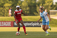Boyds, MD - Saturday June 03, 2017:  Cheyna Williams, Amber Brooks during a regular season National Women's Soccer League (NWSL) match between the Washington Spirit and the Houston Dash at Maureen Hendricks Field, Maryland SoccerPlex