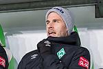 01.12.2019, Volkswagen Arena, Wolfsburg, GER, 1.FBL, VfL Wolfsburg vs SV Werder Bremen<br /><br />DFL REGULATIONS PROHIBIT ANY USE OF PHOTOGRAPHS AS IMAGE SEQUENCES AND/OR QUASI-VIDEO.<br /><br />im Bild / picture shows<br />Ersatzspieler Werder Bremen, <br />Sebastian Langkamp (Werder Bremen #15), <br /><br />Foto © nordphoto / Ewert