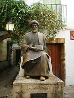 Moses Maimonides, also known as Rabbi Moshe ben Maimon - monument in Cordoba - Spain.