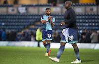 Alex Jakubiak of Wycombe Wanderers applauds the support as he leaves the field after his teams 1 2 loss during the Sky Bet League 2 match between Wycombe Wanderers and Crawley Town at Adams Park, High Wycombe, England on 25 February 2017. Photo by Andy Rowland / PRiME Media Images.
