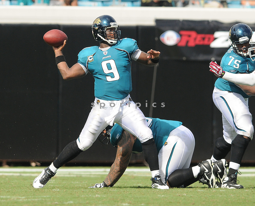 DAVID GARRARD, of the Jacksonville Jaguars , in action during the Jaguars game against the Arizona Cardinals on September 20, 2009 in Jacksonville, FL.  The Cardinals beat the Jaguars 31-17.