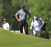 It was a case of unlucky 13th for Lee Westwood on Saturday at Wentworth when his ball became embedded in the face of a bunker as he tried to play out and ended up with a triple bogey 7. The 2012 BMW PGA Championships played over the West Course, Wentworth, Surrey, England from 24th to 27th May 2012: Picture Stuart Adams www.golftourimages.com:  26th May 2012