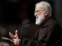 Friar Raniero Cantalamessa speaks during the Good Friday Passion of Christ Mass inside St. Peter's Basilica, at the Vatican, Friday, March 30, 2018. <br /> UPDATE IMAGES PRESS/Isabella Bonotto<br /> <br /> STRICTLY ONLY FOR EDITORIAL USE