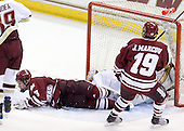 Kevin Czepiel (UMass - 3), John Muse (BC - 1), James Marcou (UMass - 19) - The Boston College Eagles defeated the University of Massachusetts-Amherst Minutemen 5-2 on Saturday, March 13, 2010, at Conte Forum in Chestnut Hill, Massachusetts, to sweep their Hockey East Quarterfinals matchup.