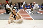 NAPERVILLE, IL - MARCH 11: Shante Williams of Illinois Wesleyan competes in the women's triple jump event at the Division III Men's and Women's Indoor Track and Field Championship held at the Res/Rec Center on the North Central College campus on March 11, 2017 in Naperville, Illinois. (Photo by Steve Woltmann/NCAA Photos via Getty Images)