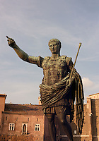 Augustus (Latin: IMP CAESAR DIVI AVGVSTVS), September 23, 63 BC August 19, AD 14), known as Gaius Julius Caesar Octavianus, The Roman Forum, Rome, Italy, Europe.