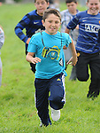 Christopher McLoughlin who won the boys under 12 race at Yellowbatter sports day. Photo: Colin Bell/pressphotos.ie