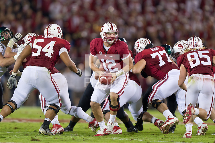 STANFORD, CA - NOVEMBER 12, 2011: Andrew Luck during the Stanford Cardinal 53-30 loss to Oregon.
