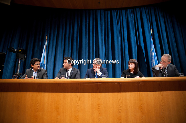"Press Conference on the the United Nations Economic and Social Council (ECOSOC) Youth Forum, with the theme, ""Shaping Tomorrow's Innovators: Leveraging Science, Technology, Innovation and Culture for Today's Youth?, moderated by Mr. Martin Nesirky, Spokesperson of the Secretary-General...Speakers: H.E. Mr. Néstor Osorio, President of ECOSOC; Mr. Ahmad Alhendawi, Envoy of the Secretary-General on Youth; Ms. Stacy Martinet, Chief Marketing Officer, Mashable.com; and Mr. Wael Ghonim, Internet activist and computer engineer. ."