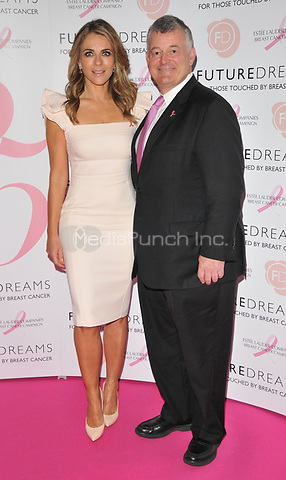 Elizabeth Hurley and William P. Lauder at the Future Dreams's &quot;United for Her&quot; fundraising charity lunch, Savoy Hotel, The Strand, London, England, UK, on Monday 09 October 2017.<br /> CAP/CAN<br /> &copy;CAN/Capital Pictures /MediaPunch ***NORTH AND SOUTH AMERICAS ONLY***