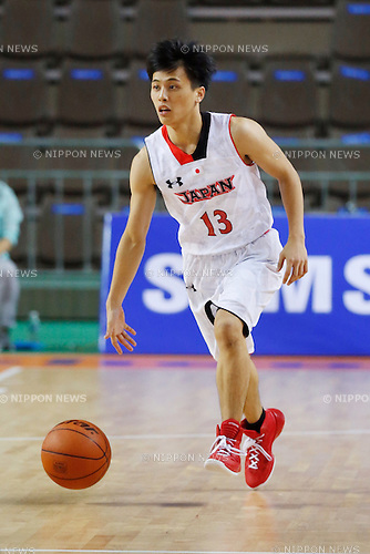 Yuki Togashi (JPN), <br /> SEPTEMBER 25, 2014 - Basketball : <br /> Men's Preliminary <br /> between Japan 71-72 Qatar <br /> at Samsan World Gymnasium <br /> during the 2014 Incheon Asian Games in Incheon, South Korea. <br /> (Photo by AFLO SPORT)