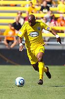 28 AUGUST 2010:  Emilio Renteria of the Columbus Crew (20) during MLS soccer game between FC Dallas vs Columbus Crew at Crew Stadium in Columbus, Ohio on August 28, 2010.