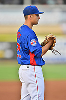 Tennessee Smokies third baseman Jason Vosler (22) during a game against the Biloxi Shuckers at Smokies Stadium on May 26, 2017 in Kodak, Tennessee. The Smokies defeated the Shuckers 3-2. (Tony Farlow/Four Seam Images)