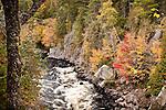 Fall foliage at Ripogenus Gorge, Piscataquis County, ME