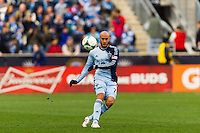 Aurelien Collin (78) of Sporting Kansas City. Sporting Kansas City defeated the Philadelphia Union 3-1 during a Major League Soccer (MLS) match at PPL Park in Chester, PA, on March 2, 2013.
