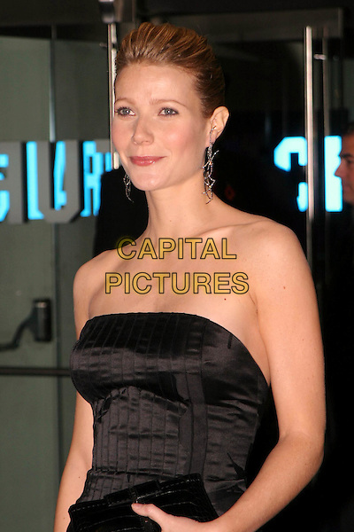GWYNETH PALTROW.Sylvia UK premiere, part of the Times BFI London Film festival closing night gala.quiff, strapless dress, tan lines, marks, big drop dangly earrings.www.capitalpictures.com.sales@capitalpictures.com.© Capital Pictures.