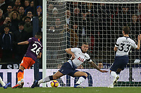 Riyad Mahrez of Manchester City scores the first goal during Tottenham Hotspur vs Manchester City, Premier League Football at Wembley Stadium on 29th October 2018