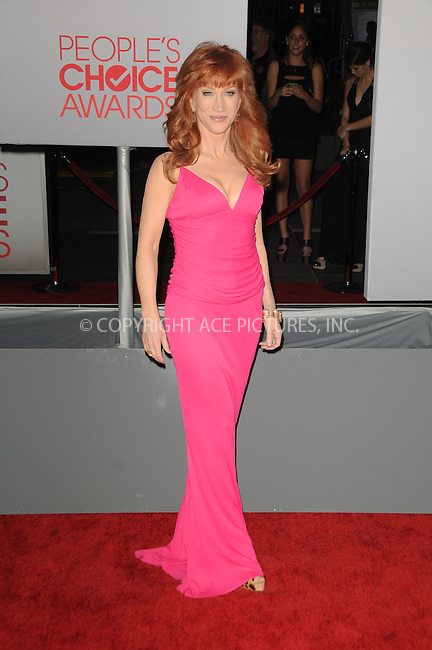 WWW.ACEPIXS.COM . . . . .  ....January 11 2012, LA....Kathy Griffin arriving at the People's Choice Awards 2012 at Nokia Theatre LA Live on January 11, 2012 in Los Angeles, California.....Please byline: PETER WEST - ACE PICTURES.... *** ***..Ace Pictures, Inc:  ..Philip Vaughan (212) 243-8787 or (646) 679 0430..e-mail: info@acepixs.com..web: http://www.acepixs.com