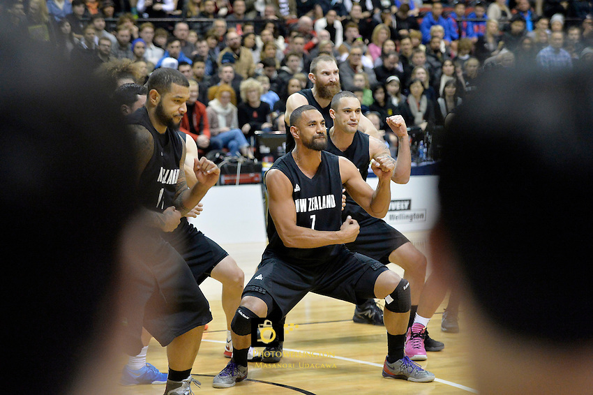 Mika Vukona in action during the International Basketball - Tall Blacks v South Korea at TSB Bank Arena, Wellington, New Zealand on Tuesday 15 July 2014. <br /> Photo by Masanori Udagawa. <br /> www.photowellington.photoshelter.com.