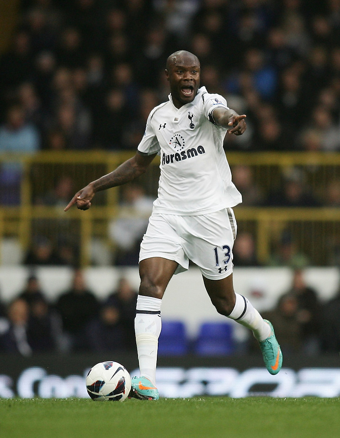 Tottenham Hotspur's William Gallas in action during todays match  ..Football - Barclays Premiership - Tottenham Hotspur v Queens Park Rangers - Sunday 23rd September 2012 - White Hart Lane - London..