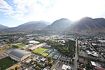 1309-22 0117<br /> <br /> 1309-22 BYU Campus Aerials<br /> <br /> Brigham Young University Campus West looking East, Provo, Sunrise, Smith Fieldhouse SFH, South Field SFLD, Richards Building RB, Richards Buildings Fields RBF, Student Athlete Building SAB, Indoor Practice Facility IPF, Outdoor Tennis Courts TCF<br /> <br /> September 6, 2013<br /> <br /> Photo by Jaren Wilkey/BYU<br /> <br /> © BYU PHOTO 2013<br /> All Rights Reserved<br /> photo@byu.edu  (801)422-7322