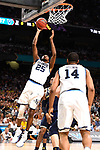 SAN ANTONIO, TX - APRIL 02: Mikal Bridges #25 of the Villanova Wildcats shoots the ball against the Michigan Wolverines during the second half  in the 2018 NCAA Men's Final Four National Championship game at the Alamodome on April 2, 2018 in San Antonio, Texas.  (Photo by Jamie Schwaberow/NCAA Photos via Getty Images)