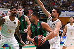 Liga ENDESA 2019/2020. Game: 01.<br /> Club Joventut Badalona vs Real Madrid: 69-88.<br /> Sergio Llull vs Albert Ventura.