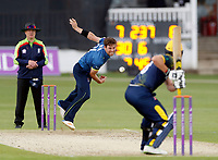 Matt Henry of Kent bowls to G Wagg during the Royal London One Day Cup game between Kent and Glamorgan at the St Lawrence Ground, Canterbury, on May 25, 2018