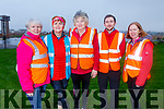 Debbie and Breda Quirke, Eileen O'Shea, Darragh Lennihan and Jennifer O'Carroll at the Let's get Kerry walking, National Operation Transformation Walk in the Tralee Bay Wetlands on Saturday.
