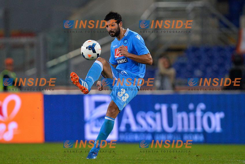 Raul Albiol Napoli <br /> Roma 18-10-2013 Stadio Olimpico<br /> Football Calcio Serie A 2013/2014<br /> Roma - Napoli <br /> Foto Andrea Staccioli Insidefoto