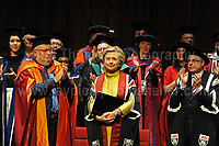 Swansea University, South Wales, UK, Saturday 14th Oct 2017 - <br /> <br /> Hillary Rodham Clinton was today in attendance at Swansea University, where she received an Honorary Doctorate of Laws.<br /> <br /> Jeff Thomas Photography -  www.jaypics.photoshelter.com - <br /> e-mail swansea1001@hotmail.co.uk -<br /> Mob: 07837 386244 -