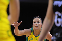 Kelsey Browne in action during the Constellation Cup Series international netball match between the New Zealand Silver Ferns and Samsung Australian Diamonds at TSB Bank Arena in Wellington, New Zealand on Thursday, 18 October 2018. Photo: Dave Lintott / lintottphoto.co.nz