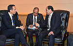 Egyptian President Abdel Fattah al-Sisi meets with Austrian Chancellor Christian Kern at United Nations headquarters in New York City, U.S. September 19, 2016. Photo by Egyptian President Office