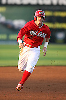 August 31, 2009:  Second Baseman Devin Goodwin of the Batavia Muckdogs on the bases during a game at Dwyer Stadium in Batavia, NY.  The Muckdogs are the Short-Season Class-A affiliate of the St. Louis Cardinals.  Photo By Mike Janes/Four Seam Images