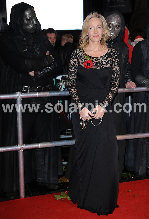 **ALL ROUND PICTURES FROM SOLARPIX.COM**                                             **WORLDWIDE SYNDICATION RIGHTS**                                                                                  Red carpet arrivals at the World Premiere of Harry Potter and The Deathly Gallows.  Held at the Odeon Leicester Square and Empire Leicester Square in London, on Thursday November 11, 2010.                                                                            This pic:   J.K. Rowling                                                                           JOB REF:     12464   SSD       DATE:      11.11.10                                                      **MUST CREDIT SOLARPIX.COM OR DOUBLE FEE WILL BE CHARGED**                                                                      **MUST AGREE FEE BEFORE ONLINE USAGE**                               **CALL US ON: +34 952 811 768 or LOW RATE FROM UK 0844 617 7637**