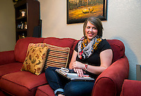 NWA Democrat-Gazette/JASON IVESTER <br /> Keisha Pittman; photographed on Thursday, July 23, 2015, in her favorite place: the sofa in her Rogers home