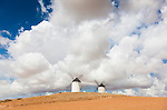 Windmills in Tembleque, Ciudad Real province, Castilla la Mancha, Spain