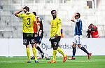 Stockholm 2014-04-06 Fotboll Allsvenskan Djurg&aring;rdens IF - Halmstads BK :  <br /> Halmstads King Osei Gyan deppar<br /> (Foto: Kenta J&ouml;nsson) Nyckelord:  Djurg&aring;rden DIF Tele2 Arena Halmstad HBK depp besviken besvikelse sorg ledsen deppig nedst&auml;md uppgiven sad disappointment disappointed dejected