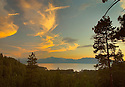 Lake Tahoe Landscape Sunset Clouds