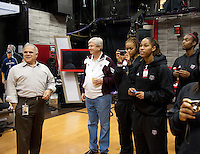 December  05, 2011 - Bristol, CT - Studio B:  Texas A&M Women's Basketball team stops on the SportsNation set during their tour or the ESPN Campus...Credit: /ESPN