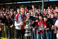 Harvey Bradbury of Woking celebrates with fans during Woking vs Welling United, Vanarama National League South Promotion Play-Off Final Football at The Laithwaite Community Stadium on 12th May 2019