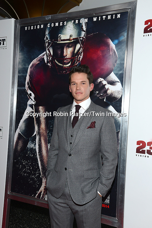 actor Mark Hapka who stars in the movie,  attends the &quot;23 Blast&quot;  Movie Premiere  on October 20, 2014 at The Regal Cinemas E-Walk Theater in New York City. <br /> <br /> photo by Robin Platzer/Twin Images<br />  <br /> phone number 212-935-0770