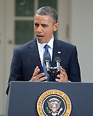 United States President Barack Obama makes remarks prior to signing the Jumpstart Our Business Startups (JOBS) Act in the Rose Garden of the White House in Washington, D.C. on Thursday, April 5, 2012.  This is a bipartisan act that incorporates the Presidents proposals to encourage startups and support our nations small businesses..Credit: Ron Sachs / CNP