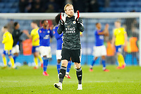 4th March 2020; King Power Stadium, Leicester, Midlands, England; English FA Cup Football, Leicester City versus Birmingham City; Kasper Schmeichel of Leicester City applauds the home fans after the final whistle