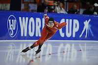 SCHAATSEN: HEERENVEEN: 14-12-2014, IJsstadion Thialf, ISU World Cup Speedskating, Espen Aarnes Hvammen (NOR), ©foto Martin de Jong