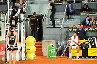 Referee and serbian Novak Djokovic during Mutua Madrid Open Tennis 2016 in Madrid,  May 06, 2016. (ALTERPHOTOS/BorjaB.Hojas) /NortePhoto.com