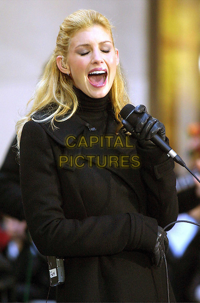 FAITH HILL ..Performs at Rockefeller Plaza as part of the TODAY Show Fall concert series...singing, microphone, half length, half-length..www.capitalpictures.com..sales@capitalpictures.com..©Capital Pictures