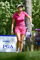 Michelle Wie (USA) watches her tee shot on 16 during Saturday's round 3 of the 2017 KPMG Women's PGA Championship, at Olympia Fields Country Club, Olympia Fields, Illinois. 7/1/2017.<br /> Picture: Golffile | Ken Murray<br /> <br /> <br /> All photo usage must carry mandatory copyright credit (&copy; Golffile | Ken Murray)