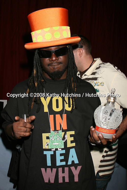 T Pain  at the BET Awards GBK Gifting Lounge outside the Shrine Auditorium in Los Angeles, CA on.June 22, 2008.©2008 Kathy Hutchins / Hutchins Photo .