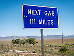 Next Gas 111 Miles, Warm Springs, Nev. State highway 375